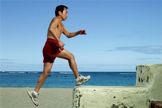 Photo Haruki Murakami courir