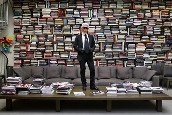Photo Karl Lagerfeld Bibliothèque